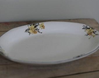 vintage serving platter by homer laughlin