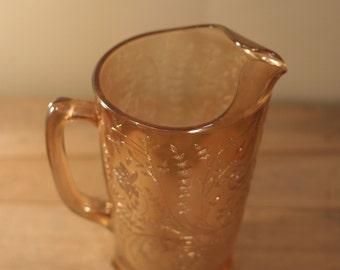 vintage peach lustre ware pitcher