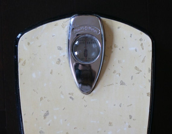 Vintage Health O Meter Scale Upcycled Retro