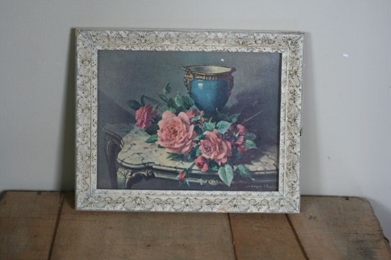 vintage shabby rose picture