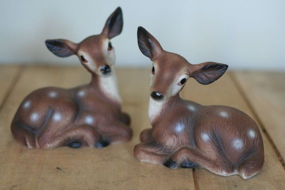 vintage pair of deer