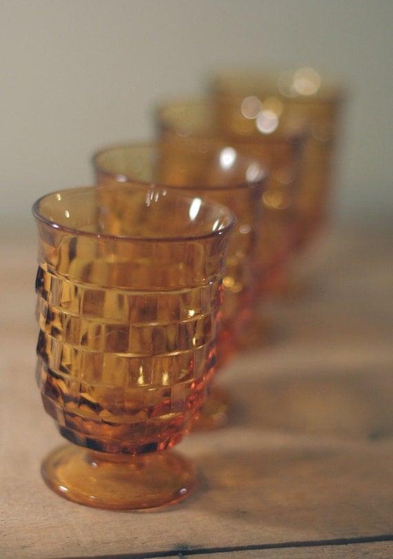 vintage fostoria footed juice glasses