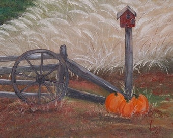 Harvest Time, Original Oil Painting