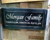 Personalized Family Name Sign Wedding Gift