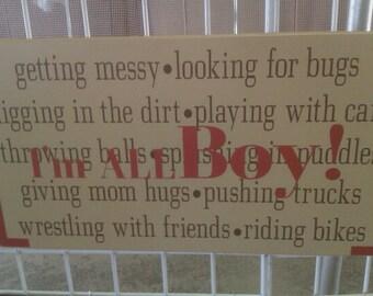 I'm All Boy sign