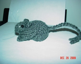 Knitted Gerbil 17 Grey Agouti
