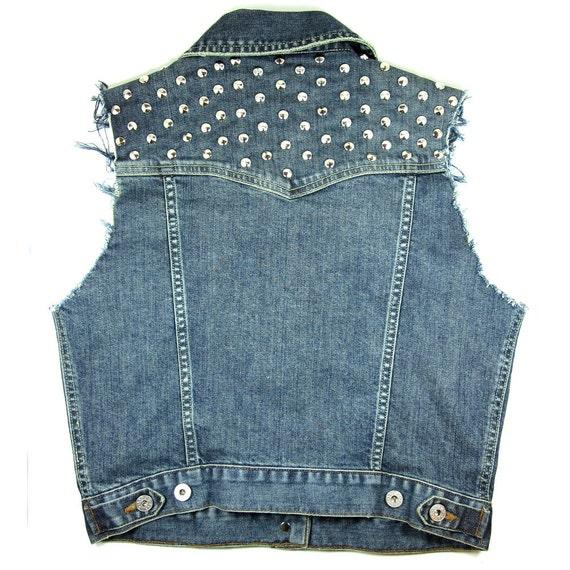 Medium Studded Vintage Cut Off Vest
