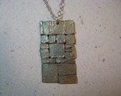 Archaeology Inspired Wall Oxidized Fine Silver Pendant