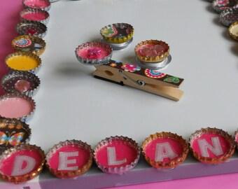 Girls Bottle Cap Customized Magnetic Dry Erase Board