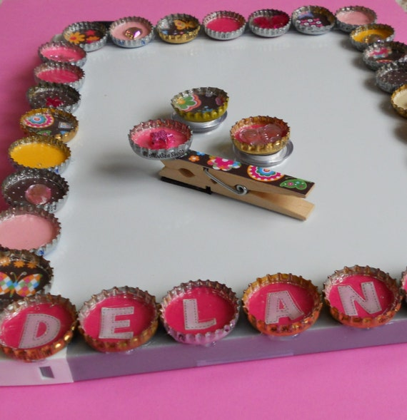Girls Bottle Cap Customized Magnetic Dry Erase Board
