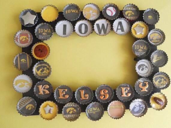 Iowa University Bottle Cap Picture Frame