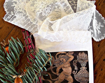 White Lace Handkerchief in excellent Vintage condition