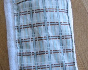 Cute Burp Cloth - Blue and White Plaid