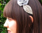 First Date, In Silver- beaded headband