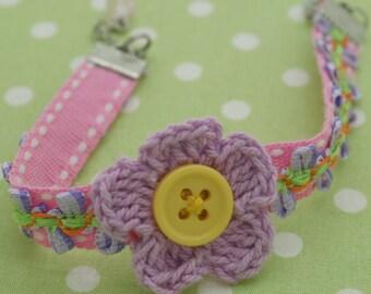 Lavender flower bracelet