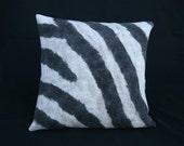 Hand felted zebra pillow (1)