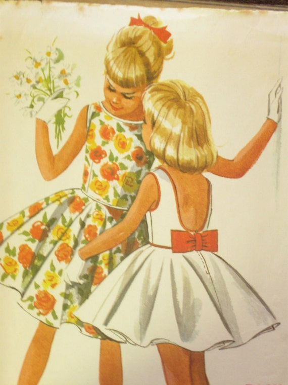60s Dress Vintage Girl's Easy Sew Pattern: McCall's 6384