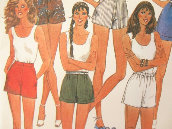McCalls 7943 Vintage 1980s Shorts Sewing Pattern