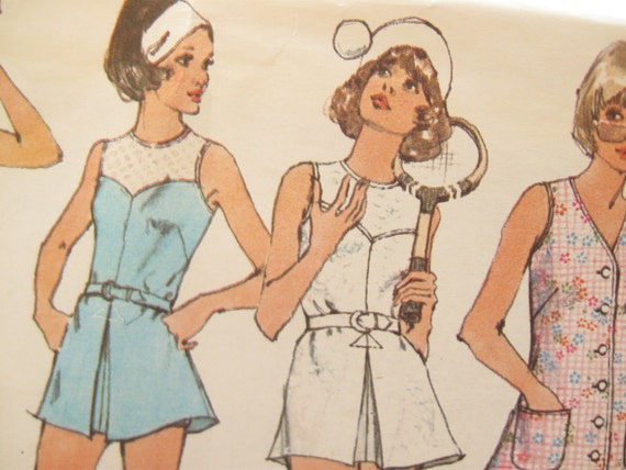 Simplicity 5632 Summer Tennis Dress Sewing Pattern Bust 32