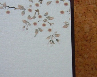 Cherry Blossom flat note cards Set of 8 blank