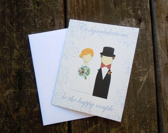 Congrats to the bride and groom card