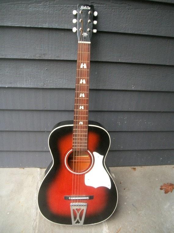 On Reserve Vintage Harmony Stella Guitar By Marzmum On Etsy