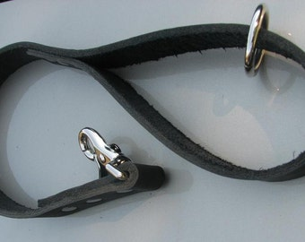 Dog Lead - Standard 2 Foot  Leather Traffic Dog Lead - 2 Foot Long