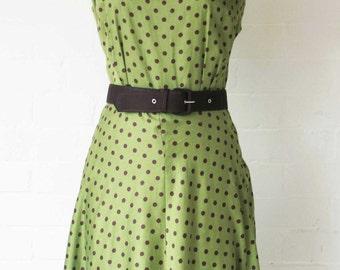 1950s cut cowboy print dress ON SALE