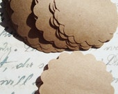 Scalloped circles- Great for Journaling - 20 labels