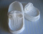 Little Loafers Baby Slippers- White