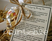 Printable- PDF- Thanksgiving Blessing Mix- Thanksgiving Gift Idea