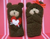 TEDDY BEAR LOVE- Furry Fingers Finger Puppets