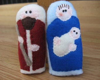 MARY AND JOSEPH- Furry Fingers Finger Puppets