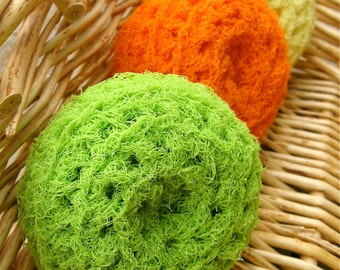 Set of 3- Citrus Nylon Net Scrubbies