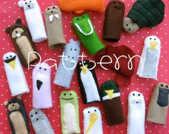 PATTERN-PDF- Splish Splash Friends- Furry Fingers Finger Puppets