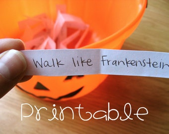 Printable- PDF- Halloween Charades- Party Game Idea
