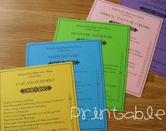 Printable- PDF- LDS Sabbath Day Observance Program