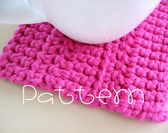 TUTORIAL- PDF- Textured Coaster- Crochet