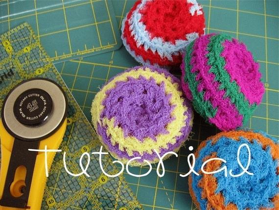 NEW- TUTORIAL- PDF- Crocheted Nylon Net Scrubbies