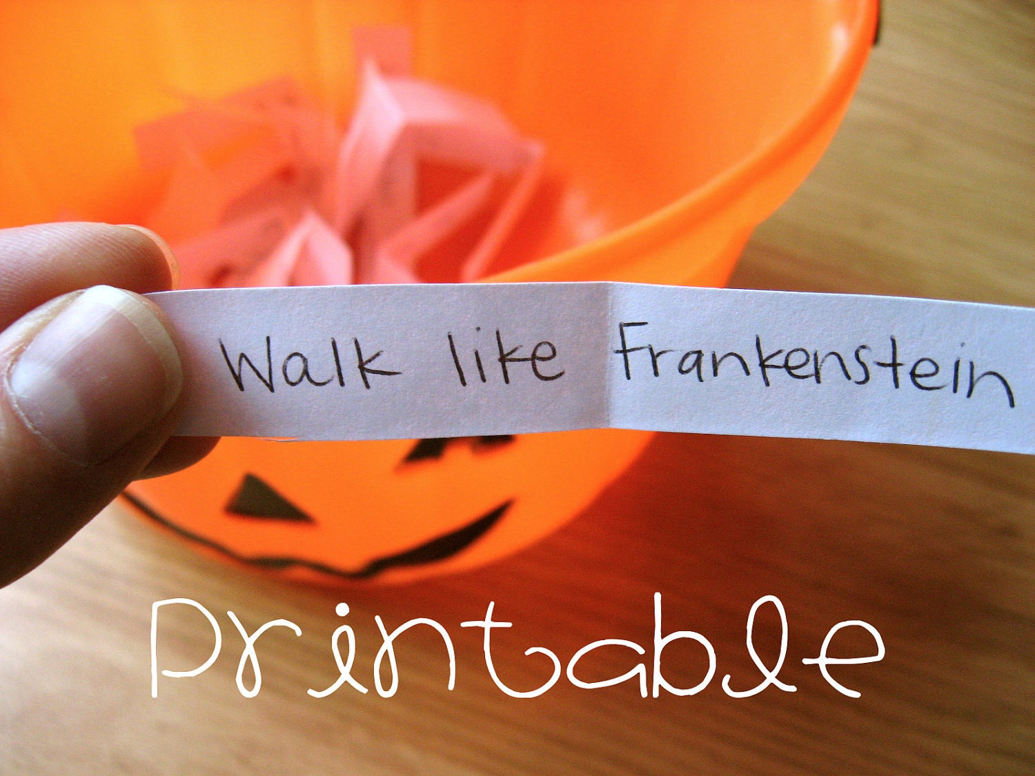 Printable PDF Halloween Charades Party Game Idea