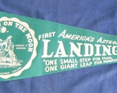 Apollo 11 First Man On The Moon Felt Pennant 1969