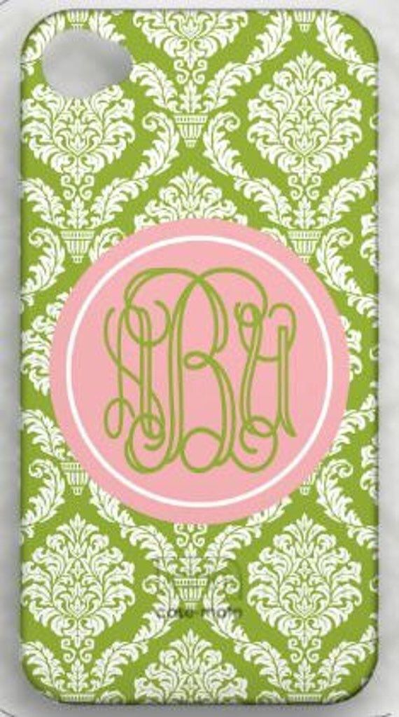 Personalized Monogram Cell Phone Case- iphone 4, 4s, 3G, Ipod, blackberry, samsung 3 MONTH WARRENTY