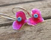 Pink Heart Girls Earrings