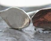 Leaves Post Earrings Studs Silver made in israel