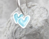 Tiny Girls Earrings Light Blue Heart