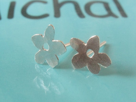 Sterling Silver Studs Tiny Flowers