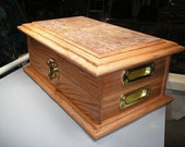 Custom Poker Case - Oak and Elm Burl