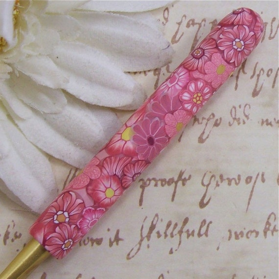 Susan Bates Polymer Clay Covered Crochet Hook, Size J