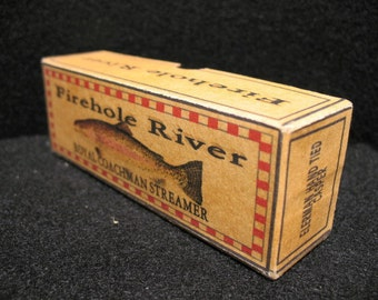 Fly Fishing cabin decor fishing lure boxes of YOUR favorite trout stream, river, lake or brook
