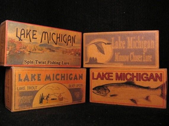 Four Lake Michigan Lake House Fishing Cabin Decor By 4YourLake